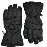 Children's Black Ski & Snowboard Gloves From Age 4 - 12