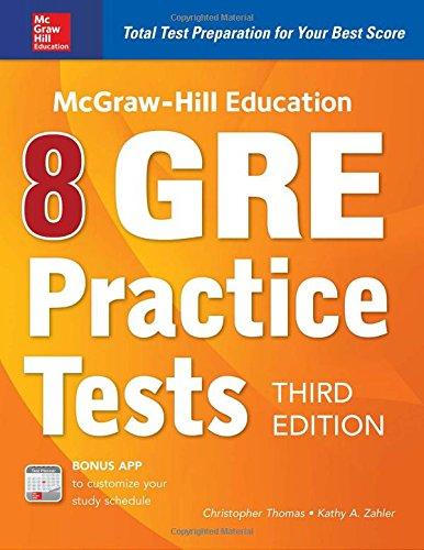 McGraw-Hill Education 8 GRE Practice Tests, Third Edition [Zahler, Kathy A. - Thomas, Christopher] (Tapa Blanda)