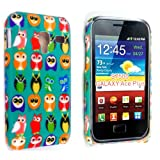 MULTI COLOR BIRDS PRINT ON GREEN HARD BACK PROTECTION CASE COVER FOR SAMSUNG GALAXY ACE PLUS S7500