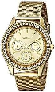 XOXO Women's XO5634 Gold-Tone Mesh Band Watch