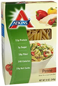 Atkins Penne Pasta, 12-Ounce Boxes (Pack of 12) by Atkins