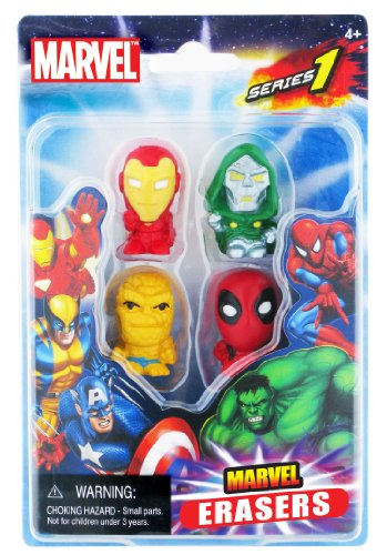 Marvel Collectible Marvel Erasers 4-Pack (Series 1 - Set C)