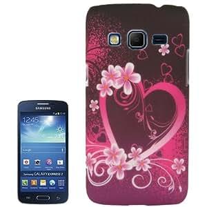 Crazy4Gadget Heart Pattern Plastic Case for Samsung Galaxy Express 2 / G3815