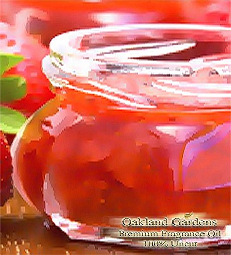 BULK Fragrance Oil – STRAWBERRY JAM Fragrance Oil – Delicious mix of succulent strawberries, sweet vanilla sugar, and sticky syrup – By Oakland Gardens (060 ml – 2.0 fl oz)