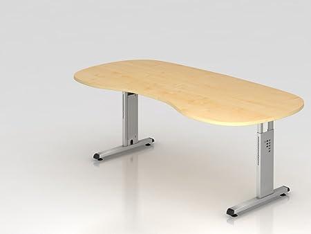 renale da tavolo supporto C 200x 100cm, acero/argento