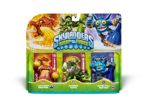 Skylanders SWAP Force Triple Character Pack - Lava Barf - Slobber Tooth - Super Gulp Pop Fizz
