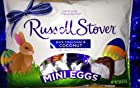 Russell Stover Dark Chocolate and Coconut Mini Eggs 2.95 Oz Bag 6 Eggs Per Bag
