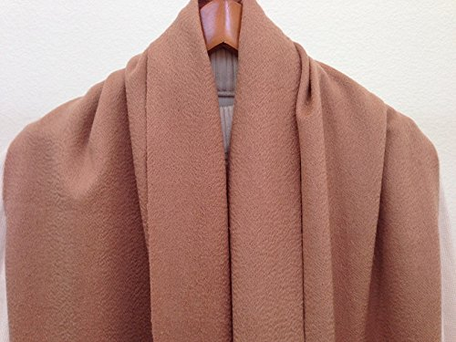 Cashmere Very Heavy And Warm X-Wide X-Long Scarf Milk-Chocolate Brown