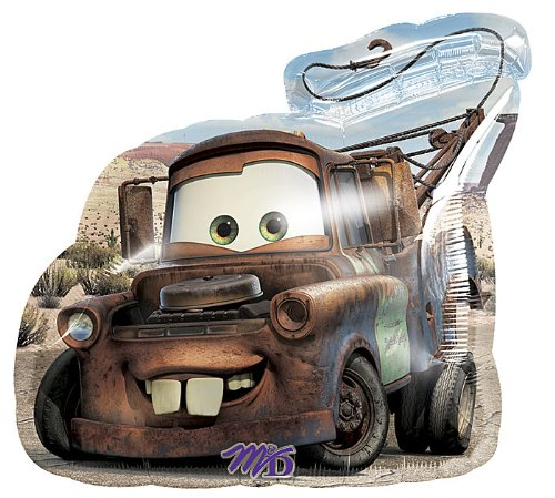 Anagram International Car Tow Mater Foil Balloon Pack, 26""