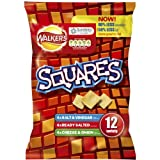Walkers Squares Variety Snacks 6x12 per pack