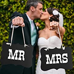 Mr & Mrs Letter Vintage Style Wedding Party Photo Props Chair Signs Banner Decorations ,6