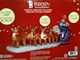 16ft Rudolph Red Nosed Reindeer Animated Airblown Inflatable