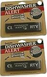 Black Deluxe Dishwasher Alert with Adhesive Backing, Set of 2