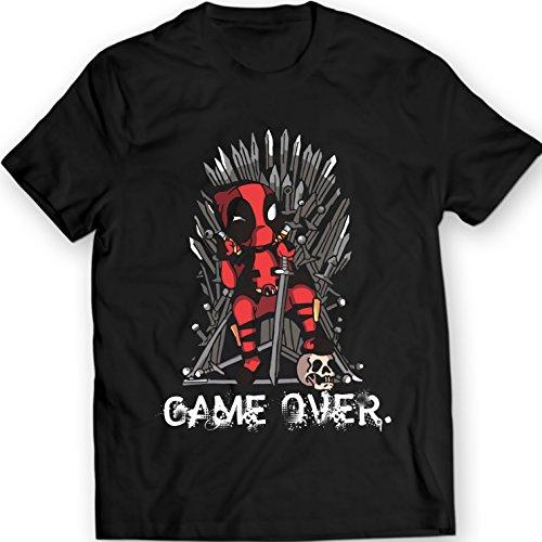 Deadpool-vs-Juego-de-Tronos-de-la-camiseta-Marvel-Comics-Camiseta-100-Algodn-L-Negro