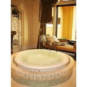 Designer 60 X 60 Redondo Whirlpool Bathtub With Combo System Fini