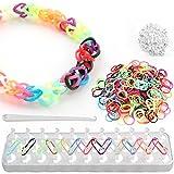 Elastiques pour bracelet - Set de 600 - avec métier à tisser - 12 couleurs différentes - QUANTITÉ AU CHOIX...