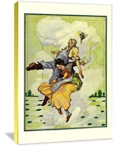 """Wizard of Oz - Auntie Em and Uncle Henry 13"""" x 20"""" Gallery Wrapped Canvas Wall Art"""