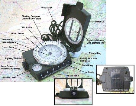 SE Military Lensatic Compass w/ Pouch