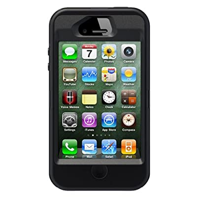 Defender Series Case and Holster for iPhone 4/4S - Protective Case for iPhone - Black