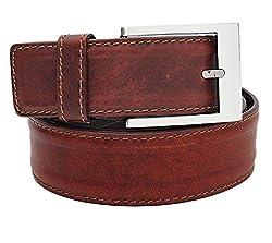 Walletsnbags Men's Leather Casual Belt (B2_Tan_36)