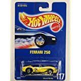 1991 Mattel Vintage Hot Wheels Ferrari 250 Yellow Racing Graphics 1:64 Scale Die Cast Collector #117 Moc Out Of...