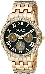 XOXO Women's XO182 Analog Display Analog Quartz Gold Watch