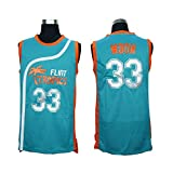 Stitched 33 Jackie Moon Flint Tropics Semi Pro Movie Basketball Jersey (white, X-Large)