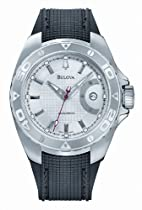 Accutron Curacao Silver White Dial Polyurethane Automatic Mens Watch 63B129