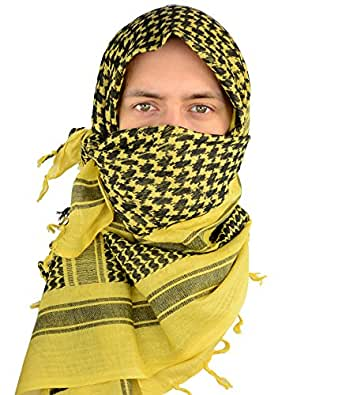 Mato & Hash Military Shemagh Tactical 100% Cotton Scarf Head Wrap - 3PK Desert Sand