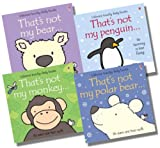 Fiona Watt Usborne That's Not My...Animal Collection - 4 Books RRP £23.96 (That's not my monkey; That's not my bear; That's not my polar bear; That's not my penguin)