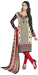 VSS Collections Women's Synthetic Unstitched Dress Material(1075,Multi-Color)