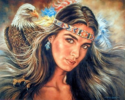 The Guardian Eagle Native American Art Print Poster (16x20)