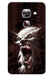 Omnam Wolf Annoying Printed Designer Back Cover Case For LeTv Le2