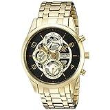 Armitron Men's 20/5047BKGP Multi-Function Skeleton Dial Gold-Tone Bracelet Watch