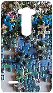 Puzzle Art Random Back Cover Case for LG G3