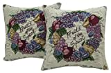 American Mills 34731.998 Fruits Of Spirit Pillow, 18 by 18-Inch, Multicolor, Set of 2