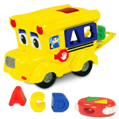 The Learning Journey Letterland Shape Sorter Remote Control School Bus