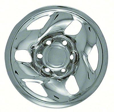 """Set of 4 16"""" Chrome Wheel Skin Hub caps w Center: 2001 -2004 Toyota Tacoma w 16x7 Inch 6 Lug Steel Rim -aftermarket: IMP/43X"""