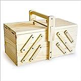 Nähkästchen aus hellem Holz Nähbox Naehen Nähkasten