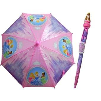 Amazon Com Girl S Disney Princess Umbrella With 3d Handle Princess With Umbrella