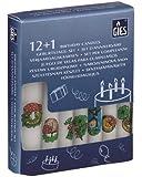 Geburtstagskerzen - Set mit Lebenslicht: 12 dekorierte Kerzen + 1 Lebenslicht, Partykerzen