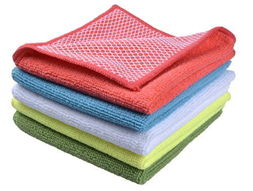microfiber-30cm-x-30cm-dish-cloth-kitchen-cloths-with-poly-scour-side-5-pack