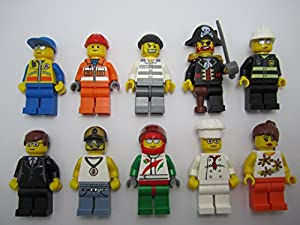 LEGO Lot of 10 Minifigures - Random mix of people guys girl