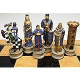 Medieval Times Crusades King Richard the Lionheart Knight Chess Men Set - no Board