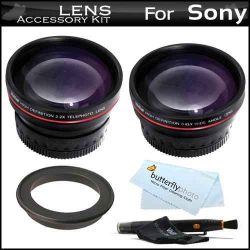 Vivitar Lens Kit For Sony A7 A7R A58, A55, A33, A35, A65, A57 A99 Dslr Slt A55, Slt A33, Slt-A35, Slta35K, Slt-A65V, Slt-A57, Slta99V, Slt-A99V, Slt-A99, Slt-A58K Includes 0.43X Hd Wide Angle Lens W/Macro + 2X Telephoto Lens + Lens Pen Cleaning Kit + More