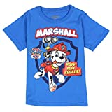 "Paw Patrol Toddler Little Boys ""Marshall Ruff Ruff Rescue"" T-Shirt (Royal Blue)"