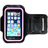 iPhone 5 / 5S Running & Exercise Armband with Key Holder   Also Fits iPhone 5C, 4, 4S, iPod Touch 5 (Black Pink)