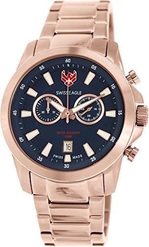 Swiss Eagle Men's Plated Stainless Steel Quartz Watch SE-9055-66