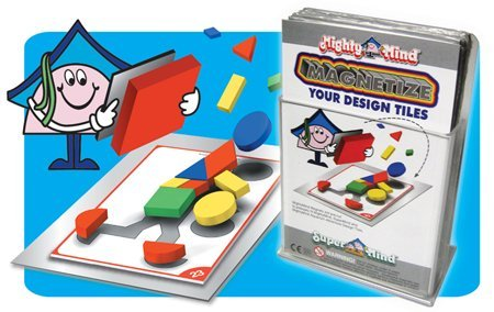 Mighty Mind Design Tile Magnet Set Peel & Stick - 32 pc