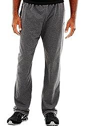 Hanes P7309 Mens Open Bottom Jersey Pants, Granite Heather Grey - Extra Large